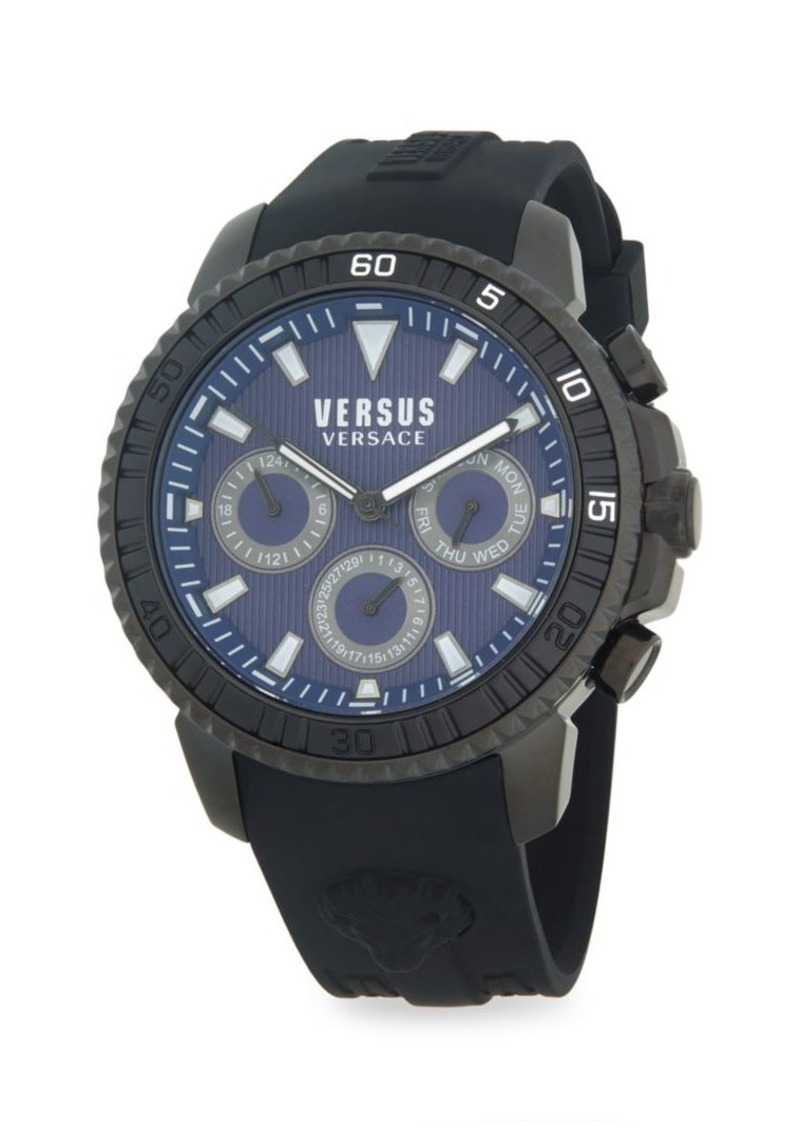Versace Stainless Steel & Silicone-Strap Chronograph Watch