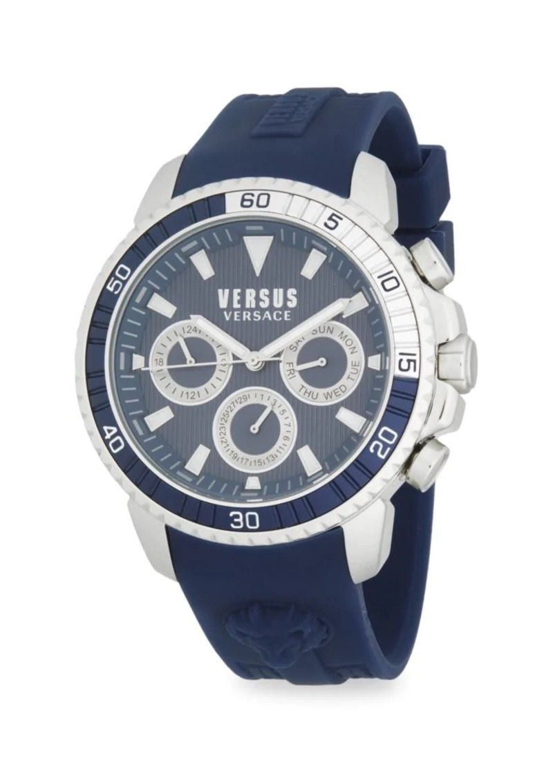 Versace Stainless Steel & Silicone-Strap Watch