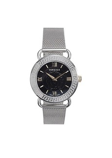Versace Stainless Steel Mesh Bracelet Watch