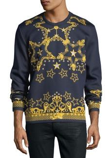 Versace Star-Print Scuba-Knit Sweatshirt