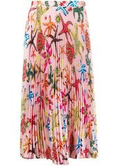 Versace starfish pleated skirt
