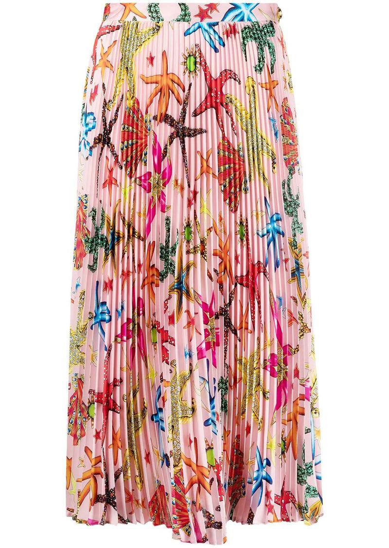 starfish pleated skirt