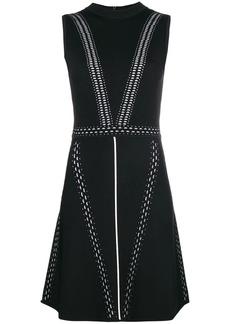 Versace stitch-detail sleeveless dress