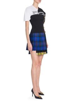 Versace Strapless Tartan Mini Dress