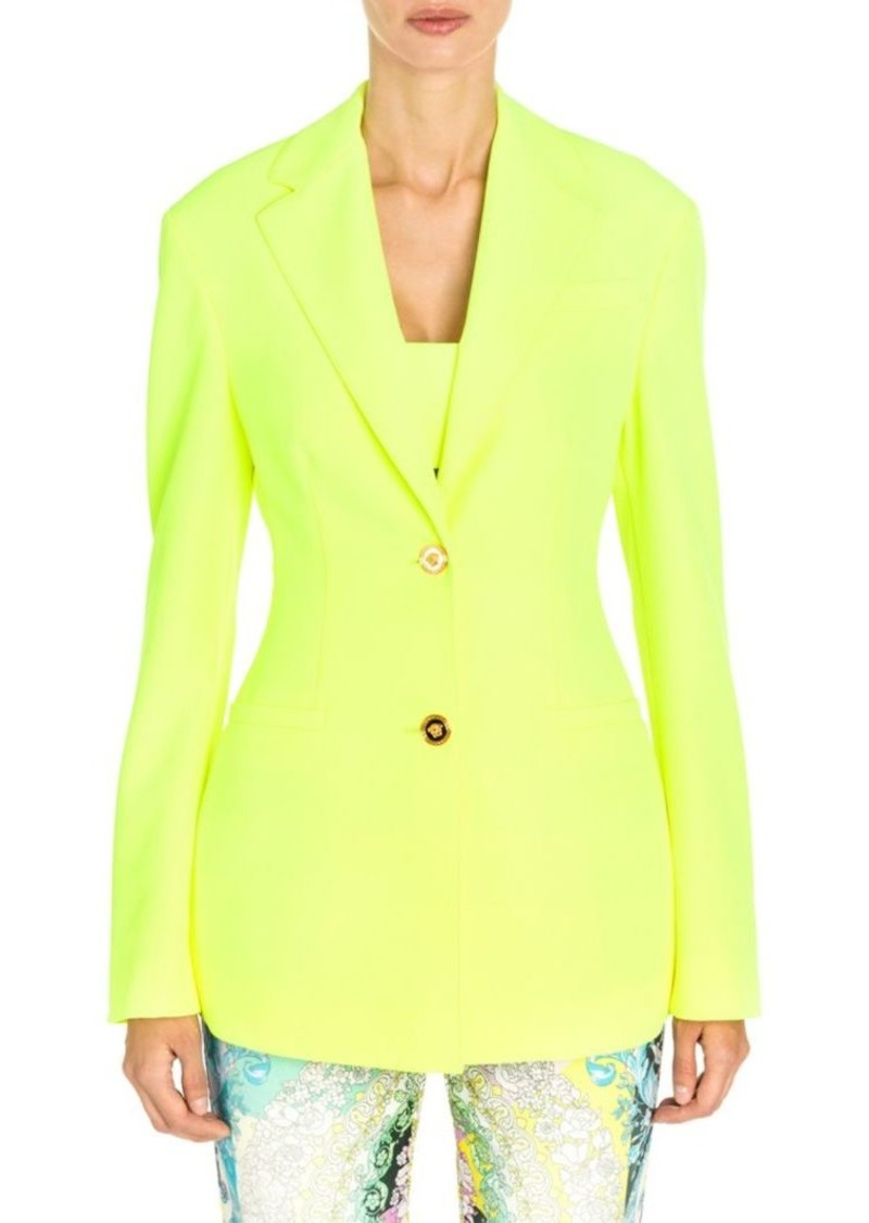 Versace Stretch Cady Two-Button Jacket