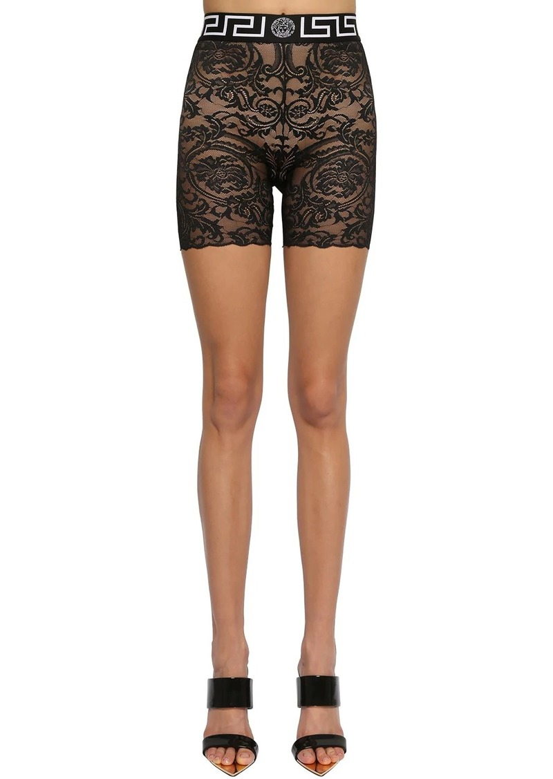 Versace Stretch Lace Cycling Shorts