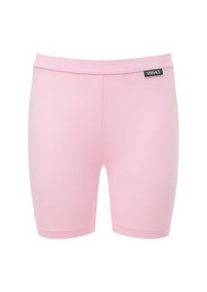 Versace Stretch Mini Cyclist Shorts W/ Logo