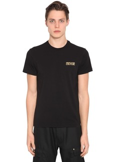 Versace Stretch Printed Cotton Jersey T-shirt