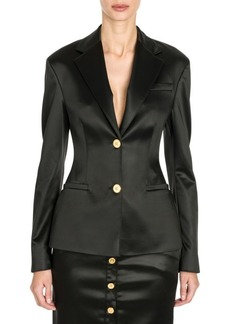 Versace Stretch Satin Two-Button Jacket