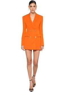 Versace Stretch Wool Blend Gabardine Mini Dress