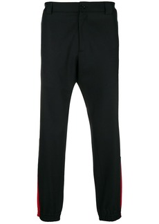 Versace stripe trim trousers