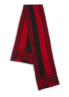 Versace Striped Logo Scarf