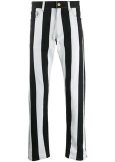 Versace striped slim-fit jeans