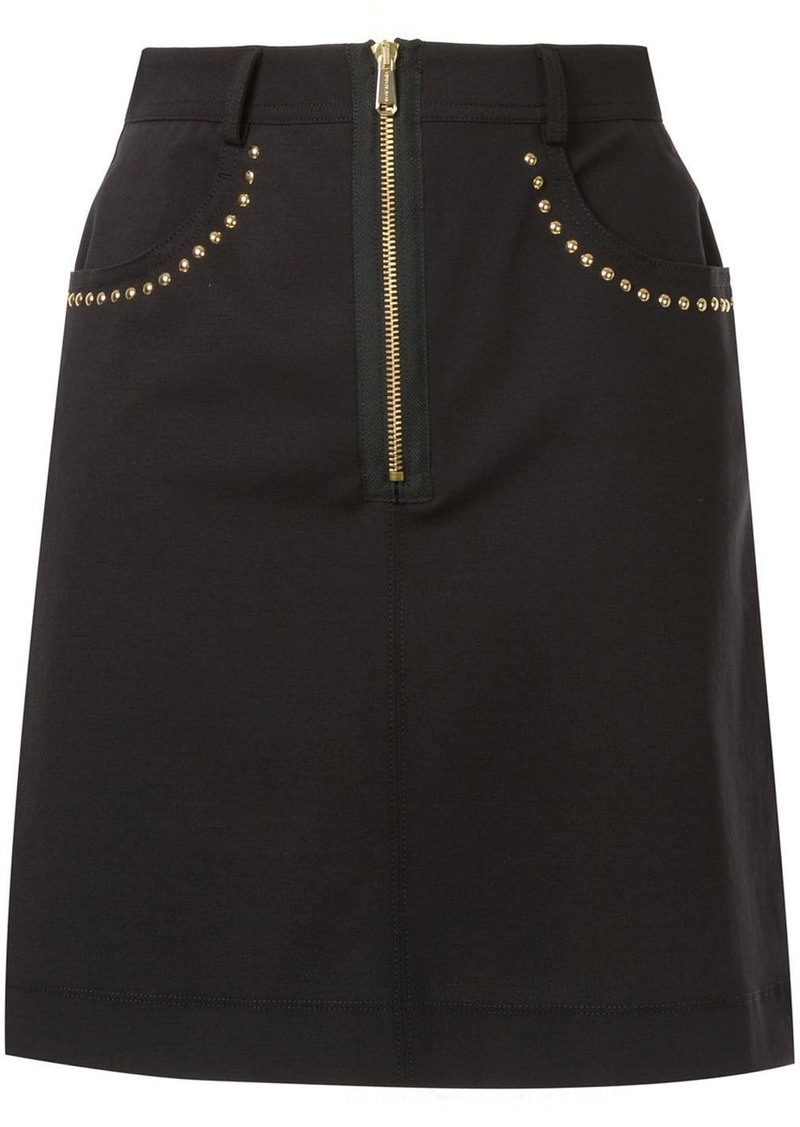 Versace stud trim skirt