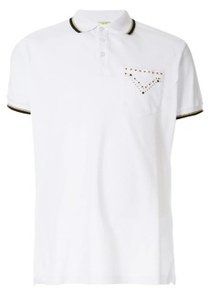 Versace studded chest pocket polo shirt