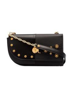 Versace Black studded leather shoulder bag