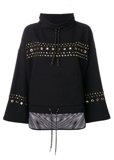 Versace studded loose-fit sweatshirt