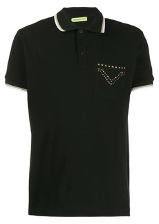 Versace studded polo shirt