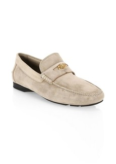 Versace Suede Driver Shoes