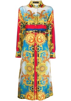 Versace sun pattern shirt dress