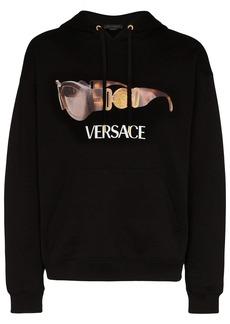 Versace sunglasses logo print hoodie
