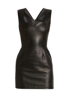 Versace Sweetheart Leather Mini Dress