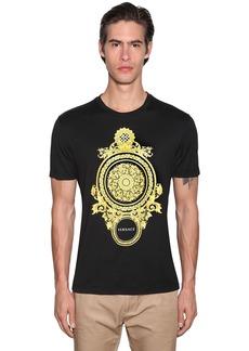 Versace T-shirt W/ Gold Barocco Print