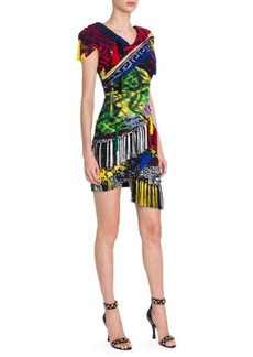 Versace Tassel Clash Print Mini Dress