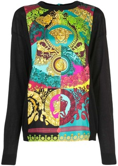 Versace Technicolor Baroque print top