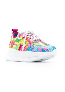 Versace Technicolor Baroque printed sneakers