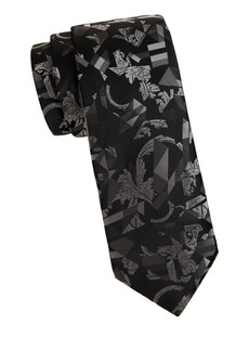 Versace Textured Abstract Silk Tie