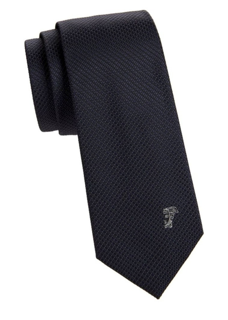 Versace Textured Dotted Silk Tie