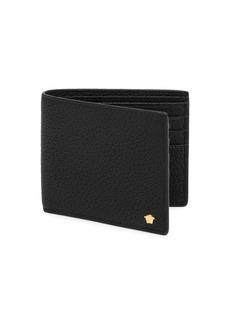Versace Textured Leather Bi-Fold Wallet