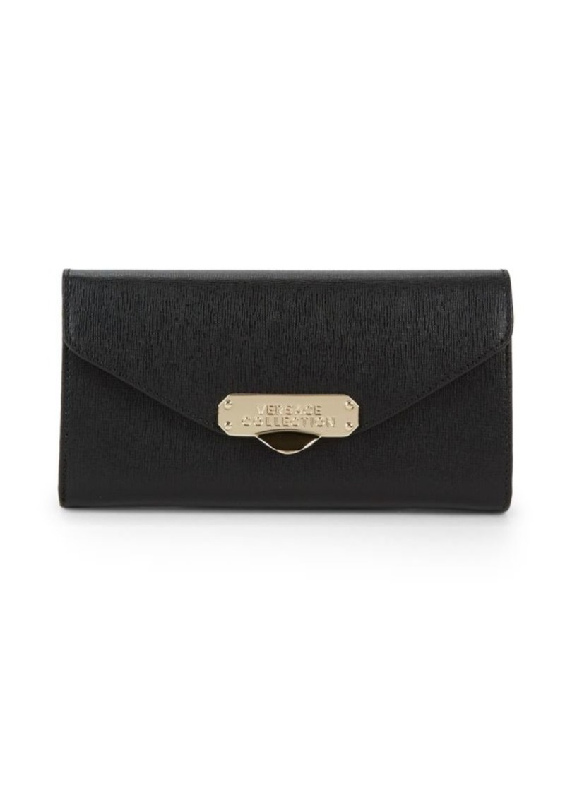 3b13103f67 On Sale today! Versace Textured Leather Continental Wallet