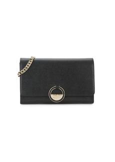 Versace Textured Leather Crossbody Bag
