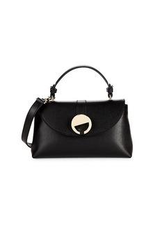 Versace Textured Leather Envelope Crossbody Bag