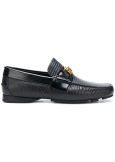 Versace textured Medusa loafers