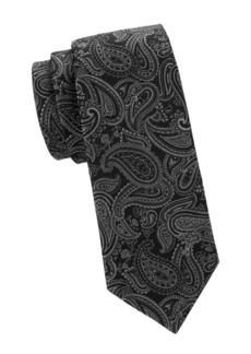Versace Textured Paisley Silk Tie