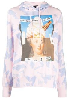 Versace tie-dye cotton hoodie