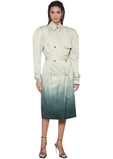 Versace Tie Dye Cotton Twill Trench Coat