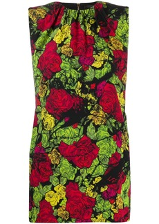Versace tie-dye roses mini dress