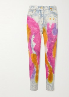 Versace Tie-dyed High-rise Straight-leg Jeans