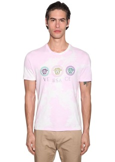 Tie-dyed T-shirt W/ Versace Embroidery