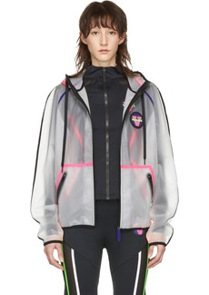 Versace Transparent Logo Patch Jacket