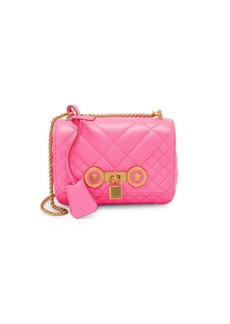Versace Trapuntata Quilted Leather Handbag