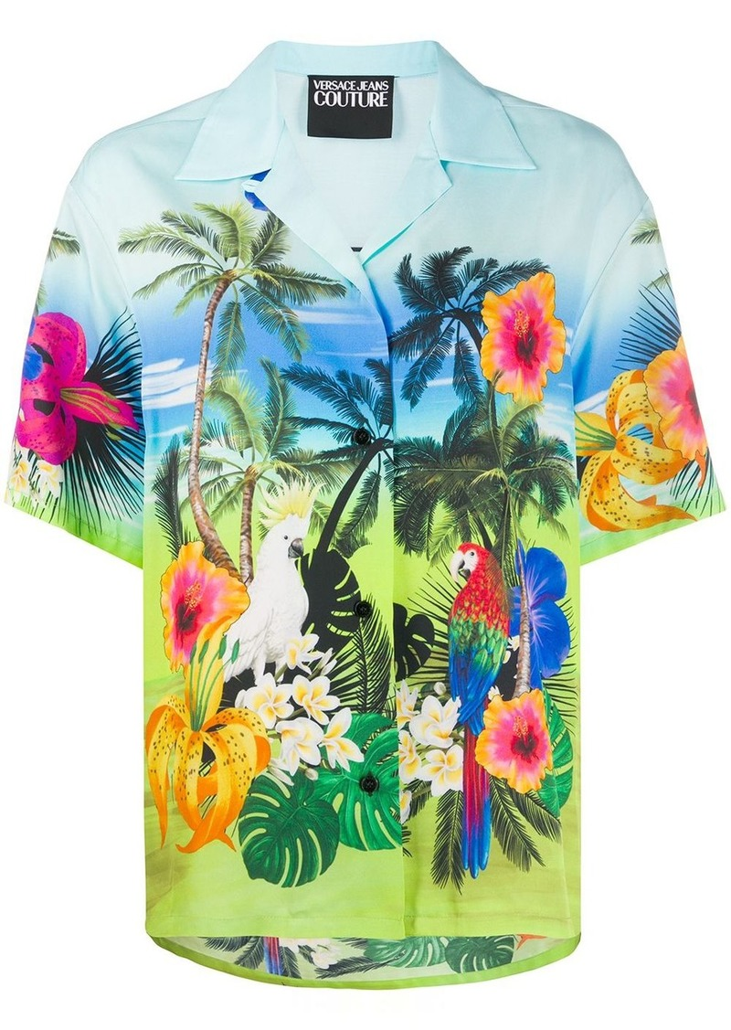 Versace tropical print shirt