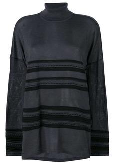 Versace turtleneck striped jumper
