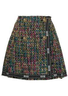 Versace tweed a-line skirt