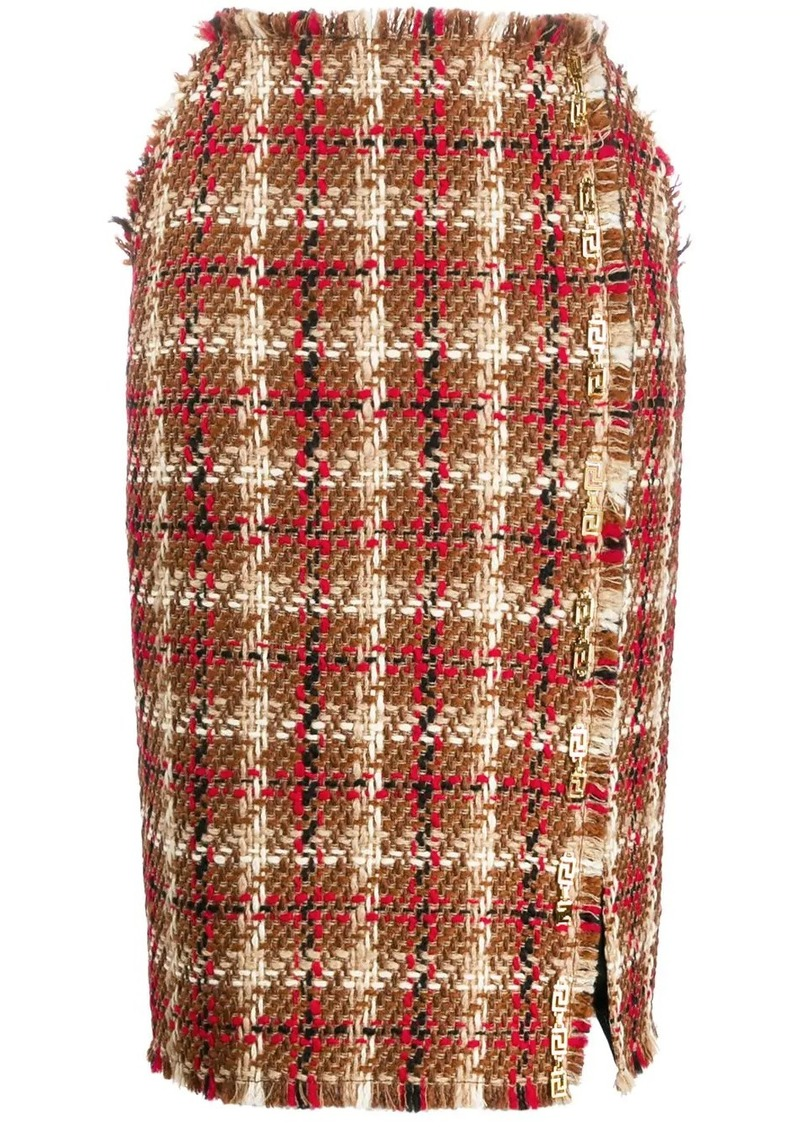 Versace tweed pencil skirt