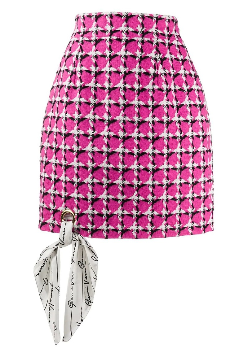 Versace tweed short skirt